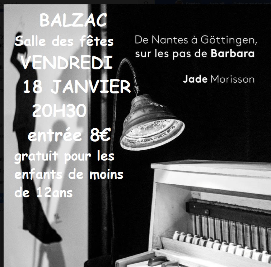 CONCERT JADE MORISSON sur les pas de BARBARA