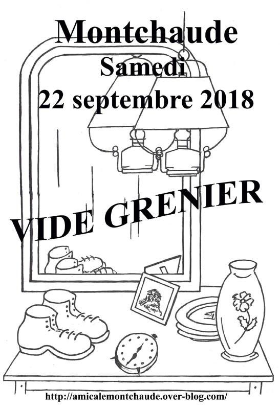 Affiche vide grenier Montchaude 2018b